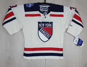 New York Rangers Lundqvist 2012 Winter Classic Reebok Hockey Jersey Youth S/M