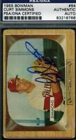 Curt Simmons Signed Psa/dna 1955 Bowman Autograph Authentic