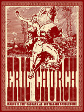 Eric Church Calgary AB Canada 3/11/2017 Poster Signed & Numbered #/35 Rare!!