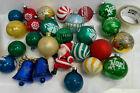 Vintage Mixed Lot Christmas Balls And Santa Claus Christmas Ornament Noel