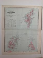 The Orkney & Shetland Islands, 1861 Antique Map, County, Hughes, Atlas