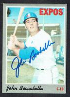 John Boccabella #19 signed autograph auto 1970 Topps Baseball Trading Card