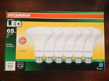 Sylvania 6 Pack  8W (65W replacement ) Ultra LED bulbs BR-30 - Dimmable - NEW