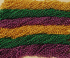 288 Purple Green Gold Mardi Gras Gra Beads Necklaces Party Favors 24 Dozen