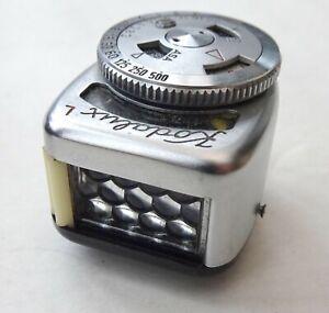 Kodak Kodalux-L camera shoe light meter in case
