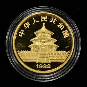 1988 25 YUAN CHINA 1/4 oz GOLD PANDA COIN, PROOF *OMP* - SKU-G1074
