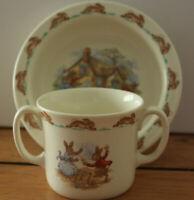 Royal Doulton Bunnykins Bowl And  Double Handle Cup Mug New - Great Condition
