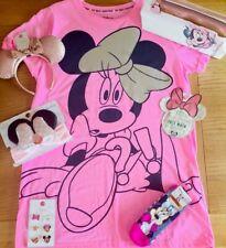 LADIES Women's GIRLS Primark Disney PYJAMAS 12-14 Minnie Mouse Ears Bag Nightie