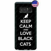 Keep Calm Love Black Cats Kitty New Case Cover For Samsung Galaxy Note 9 8 5 4 3