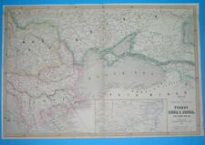1854 RARE ORIGINAL MAP POLAND UKRAINE RUSSIA HUNGARY ROMANIA BULGARIA GEORGIA