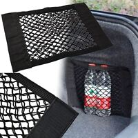 Car Auto Back Rear Trunk Seat Elastic String Net Mesh Storage Bag Pouch Black