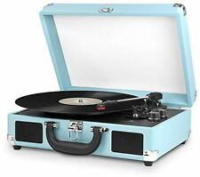 Innovative Technology ITVS-550BT 3-Speed Vintage Bluetooth Turntable Turquoise (