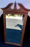"Ethan Allen Heirloom Nutmeg Maple 23""w x 44""h Pediment Wall Mirror 10-9049 211"