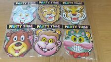 10 x  Animal Face Masks for kids children birthday party zoo safari fancy jungle