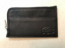 ea2a079d5875 Lacoste Mens Women Slim Genuine Leather Wallet Pocket Card Holder Purse