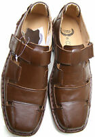 NEW MENS NATURAL LEATHER FORMAL SANDALS OFFICE WORK PARTY SUIT BLACK BROWN SHOES