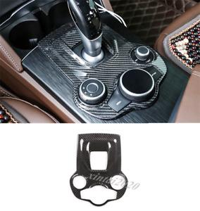 Real Carbon Fiber Gear Shift Box Cover Trim For Alfa Romeo Giulia Stelvio 17-19