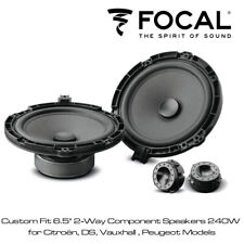 "Focal ISPSA165 Custom Fit 6.5"" 2 Way Component Speaker 240W for Vauxhall Peugeot"