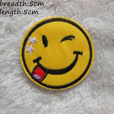 Ecusson Patch thermocollant brodé Smile, Smiley, Sourire, Happy, Custom