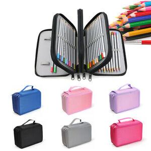 Large Capacity Color Sketch Pen Pencil Holder Case Makeup Organizer Storage Bag