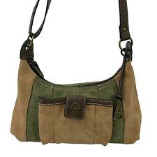 BOC Born Concepts Green Brown Color Block Shoulder Bag Hobo Saddle Strap Purse