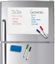 Officeline Magnetic Dry Erase Whiteboard 17 X 11 Sheet For Refrigerator With 4