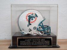 Football Mini Helmet Display Case w/ A Jason Witten Dallas Cowboys Nameplate