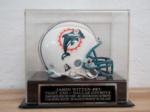 Jason Witten Football Mini Helmet Display Case W/ A Cowboys Engraved Nameplate