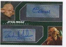 Star Wars Chrome Perspectives Dual Auto Card Michaela Cottrell, Zach Jensen