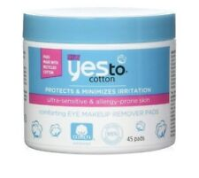 NEW Yes to Cotton Comforting Eye Makeup Remover Pads 45 ct