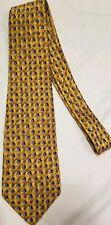 Robert Talbott 100% Silk Tie Gold Geometric Necktie