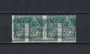 POLAND 1919, Mi# 116, Imperforated Pair, Double Impression, MH