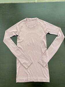 Lululemon Swiftly Tech long sleeve Pink Taupe shirt top 2