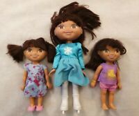 Dora the Explorer Bundle of Three Dolls Ice Skater Doll