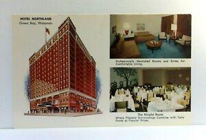 Green Bay Wisconsin Hotel Northland Multiview Postcard