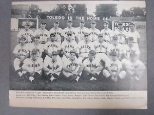 Toledo Mud Hens Team Photo   1946   Page of a Magazine   Minor League Baseball