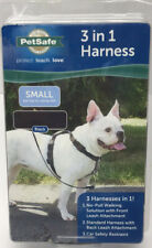 New 3 In 1 Black Pet Safe 3 Harneses In 1 Sz Small For Dogs