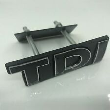 Black TDI Front Grill Grille Emblem Badge Decal For Jetta Polo MK Scirocco