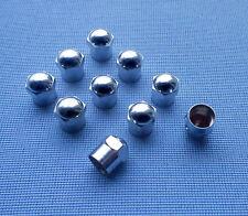 10x Chrom Ventilkappen Metallventilkappen mit Dichtung  Metall Messing