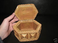 Jewelry and Cosmetic Storage Organizer Handmade Knitted Decorative Vintage Box