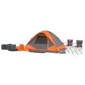 22-Piece Camping Tent Combo  with Sleeping Pads,Chairs and Carry-All Bag