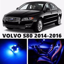 10pcs LED Blue Light Interior Package Kit for VOLVO S80 2014-2016