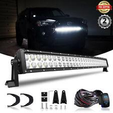 "Fits 14-UP TOYOTA 4Runner 30.5"" 32"" LED Light Bar Grille Bumper Lamp +Wiring Kit"