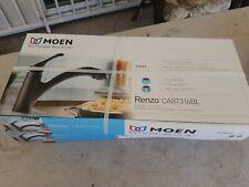 Moen Pullout Kitchen Faucet Low Lead Single Handle Renzo Matte Black Pack 1