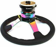 NRG SHORT HUB QUICK RELEASE STEERING WHEEL NEO COMBO EK9 CIVIC S2000 PRELUDE