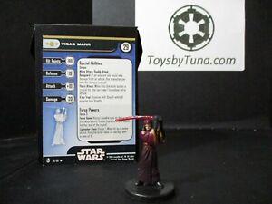 Star Wars Miniatures Visas Marr Knights of the Old Republic w/ Card mini RPG