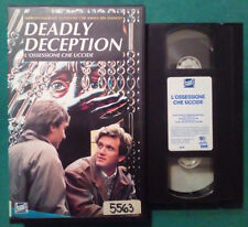 VHS FILM Ita Thriller DEADLY DECEPTION L'Ossessione Che Uccide no dvd(VH34)