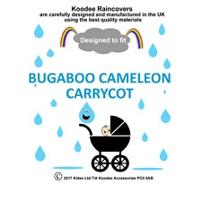 koodee uk Raincover To fit BUGABOO CAMELEON / CAMELEON 3 CARRYCOT BNIP