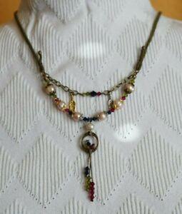 Adjustable Leather, Pearl & Swarovski Necklace Inspired by Sundance Catalog