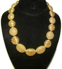 Vintage Christian Dior Gold Plated Chunky Disc Runway Necklace by Grosse